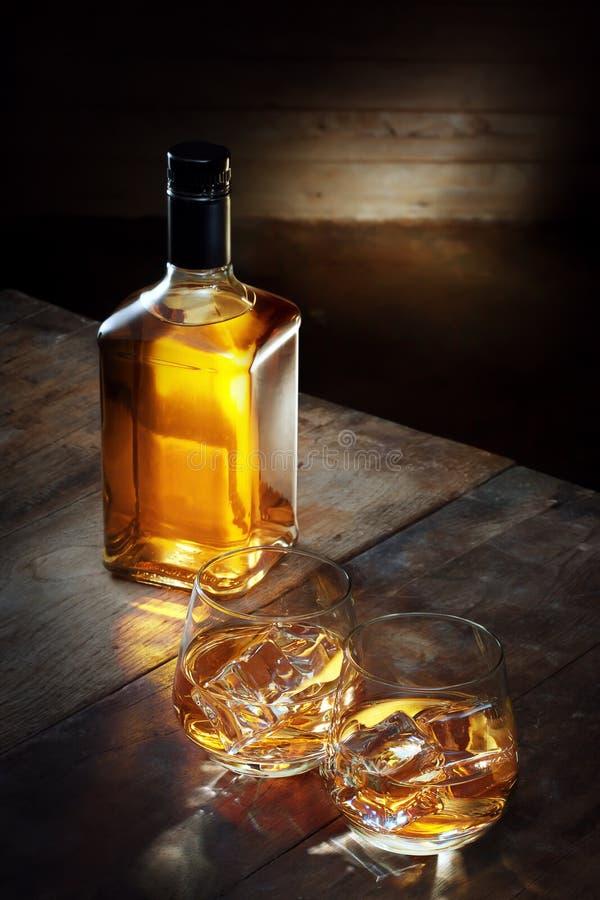 Ensemble de whiskey photographie stock libre de droits