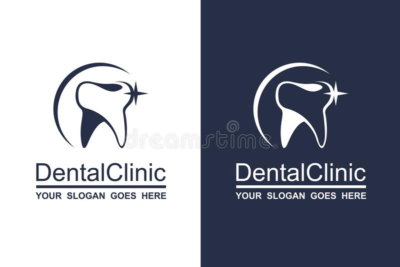 Ensemble dentaire d'icône illustration libre de droits