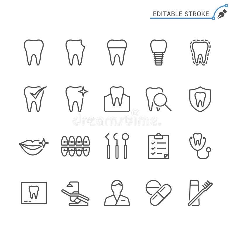 Ensemble dentaire d'icône d'ensemble illustration libre de droits