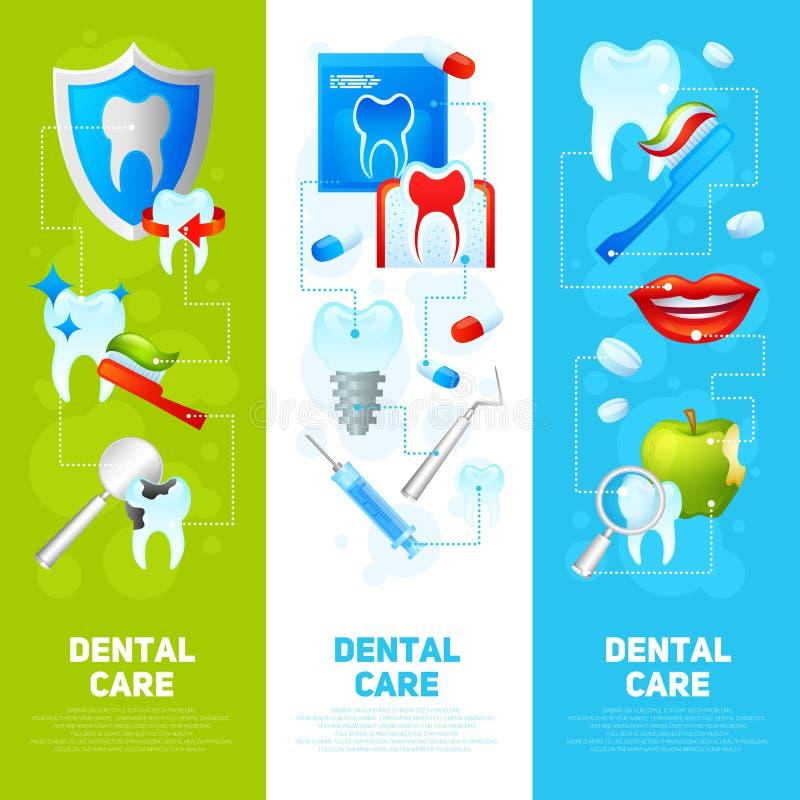 Ensemble dentaire de bannière illustration libre de droits