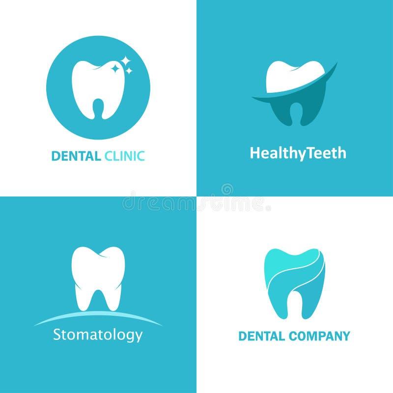 Ensemble dentaire de vecteur de clinique de logo illustration de vecteur