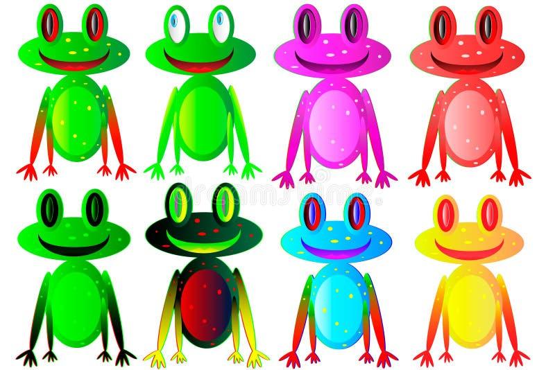 Ensemble des grenouilles illustration stock