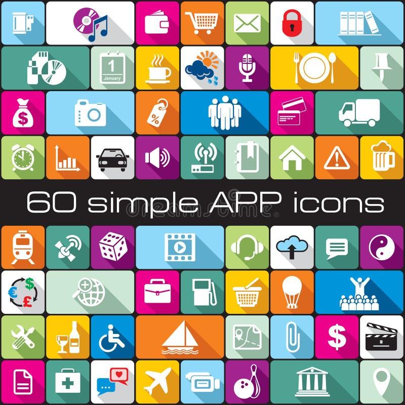 Ensemble des icônes APP illustration de vecteur