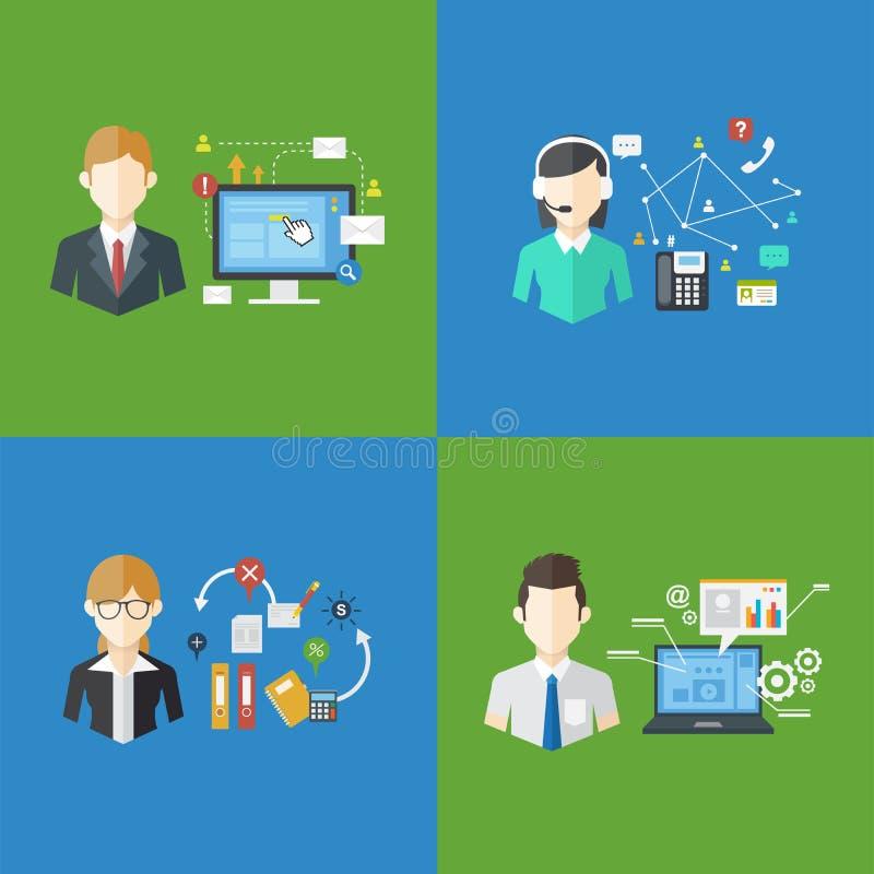 Ensemble des travaux de gestion d'entreprise, illustration de vecteur illustration de vecteur
