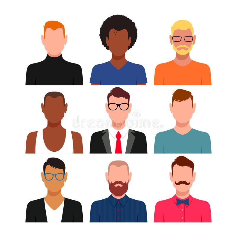 Ensemble divers d'avatar de personnes illustration de vecteur