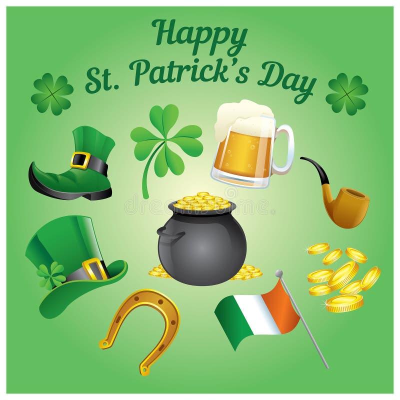 Ensemble du jour de St Patrick illustration libre de droits