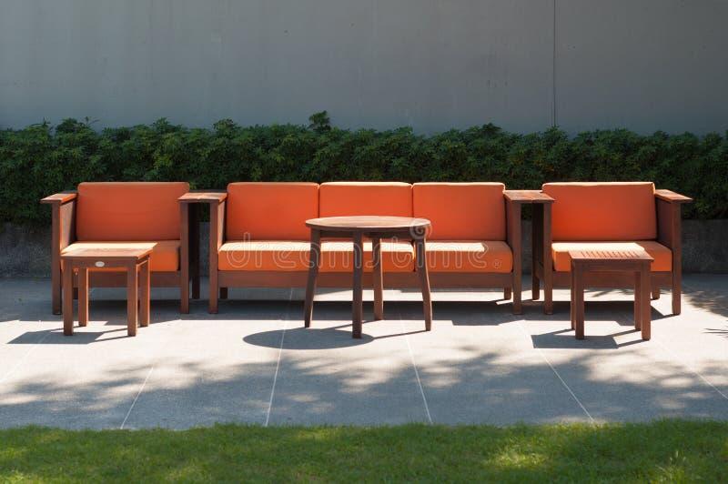 Ensemble extérieur de sofa de meubles photos libres de droits