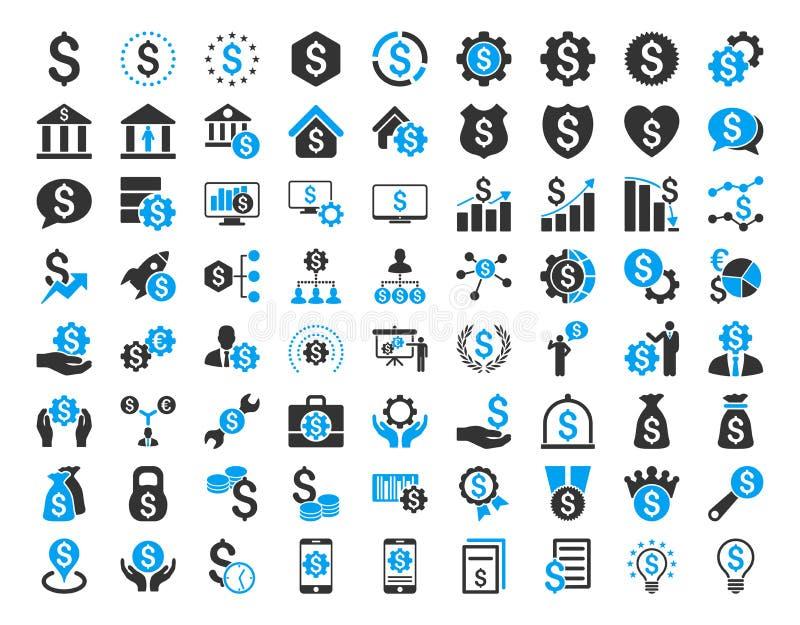 Ensemble financier d'icône d'affaires illustration stock