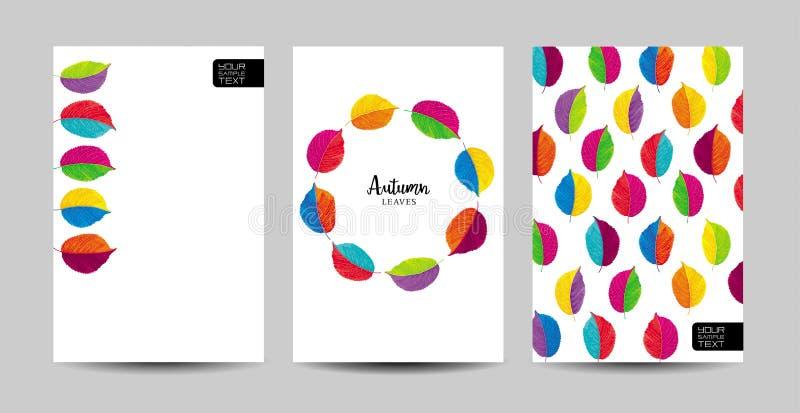 Ensemble floral de calibre d'automne illustration libre de droits