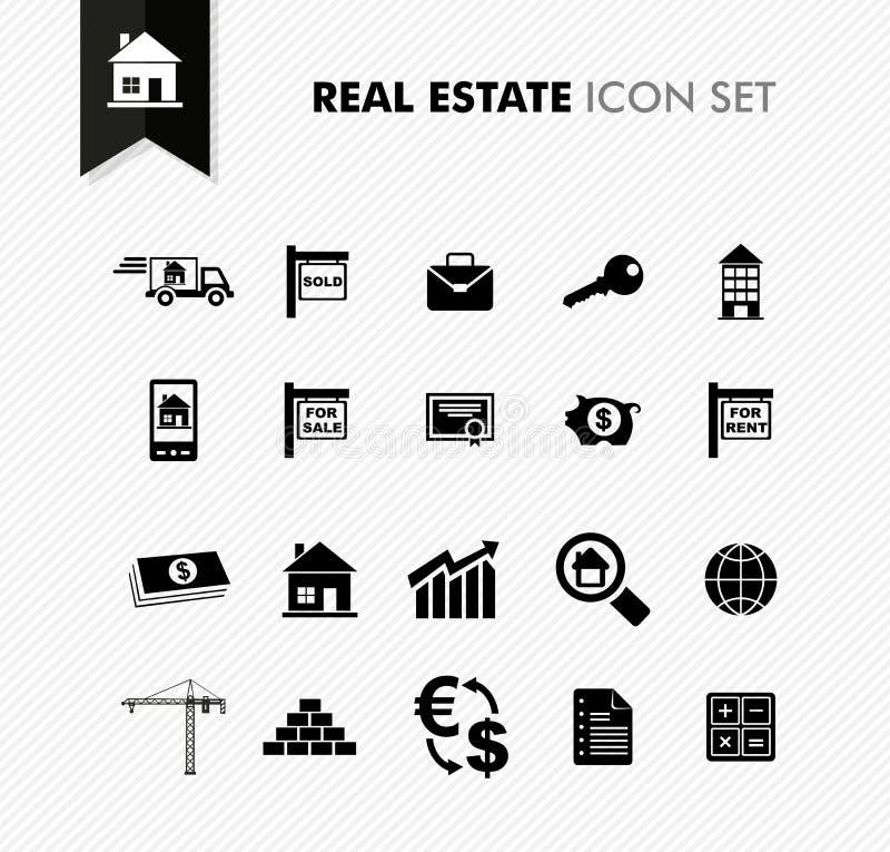 Ensemble frais d'icône de Real Estate. illustration stock