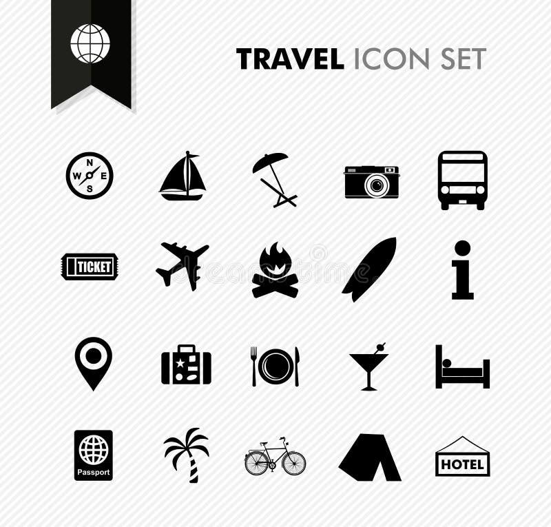 Ensemble frais d'icône de voyage. illustration de vecteur