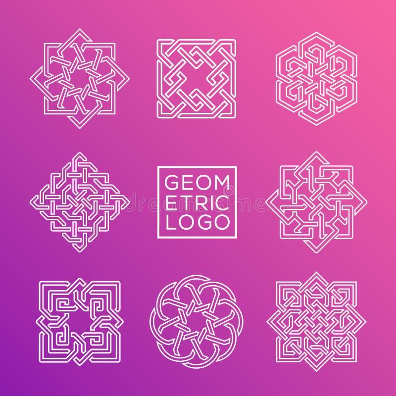Ensemble géométrique d'ornement illustration stock