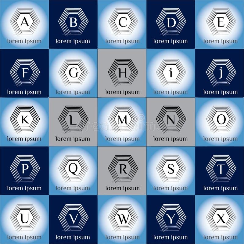 Ensemble géométrique de calibre de logo de vecteur de technologie illustration libre de droits