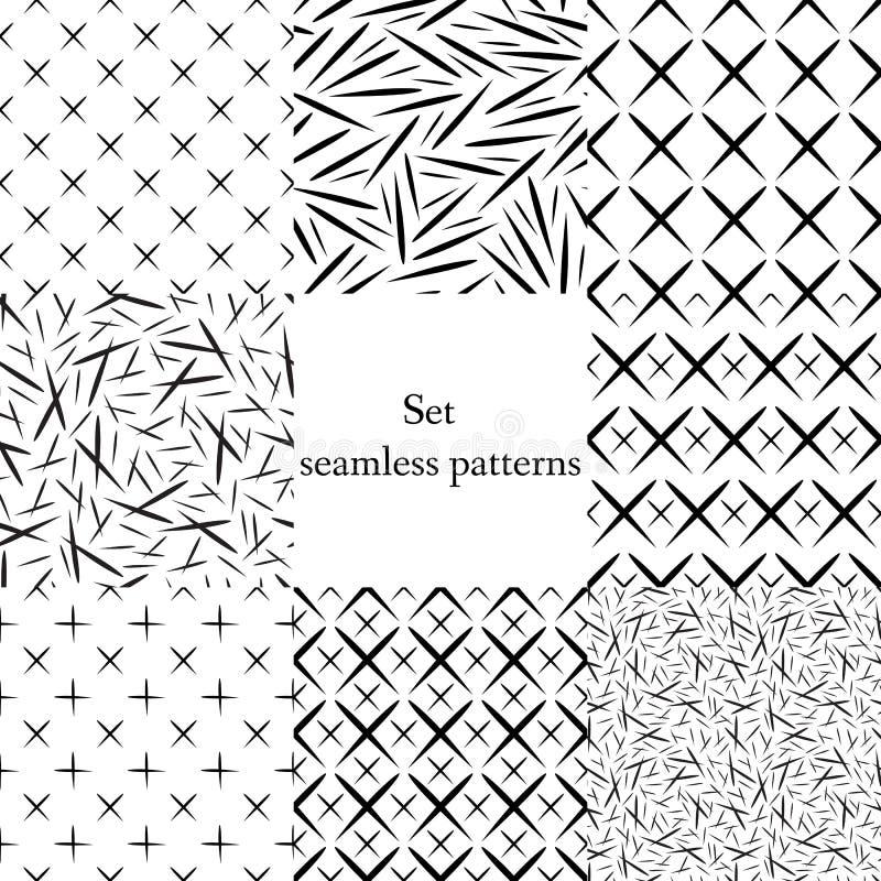 Ensemble géométrique de résumé illustration stock
