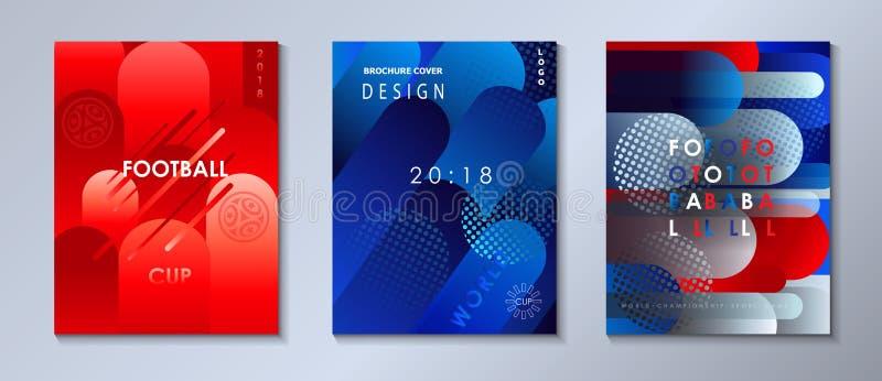 Ensemble géométrique dynamique abstrait de brochure de formes illustration stock