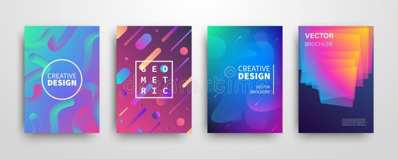 Ensemble géométrique dynamique de couvertures de résumé futuriste moderne illustration libre de droits