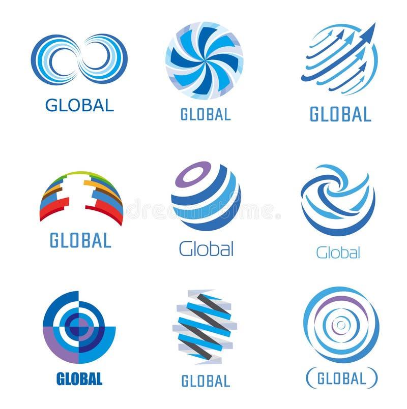 Ensemble global de vecteur illustration libre de droits