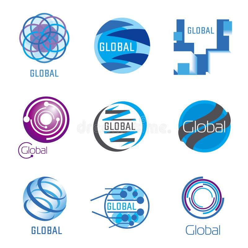 Ensemble global de vecteur illustration stock