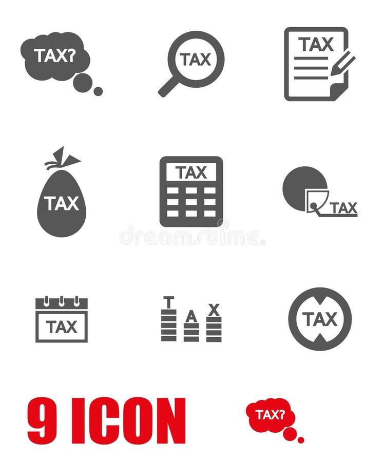 Ensemble gris d'icône d'impôts de vecteur illustration libre de droits