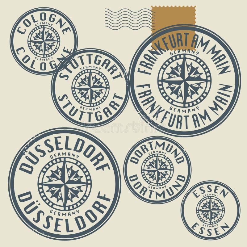 Ensemble grunge de timbre illustration de vecteur