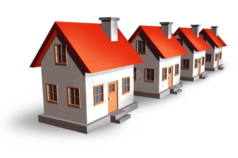 Ensemble immobilier privé illustration de vecteur