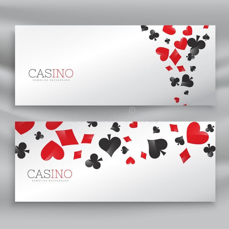 Ensemble impressionnant de bannières de casino illustration stock