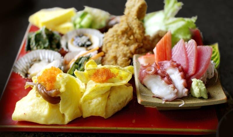 Ensemble japonais de nourriture  photographie stock