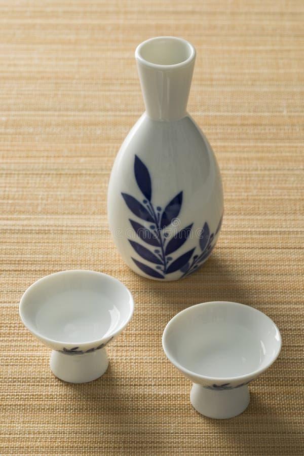 Ensemble japonais de saké photo stock