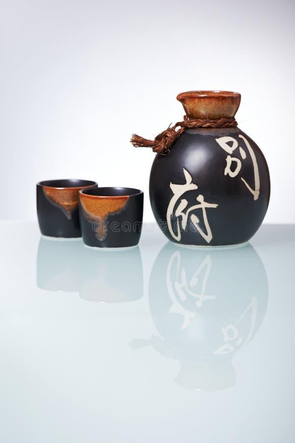 Ensemble japonais de saké image libre de droits
