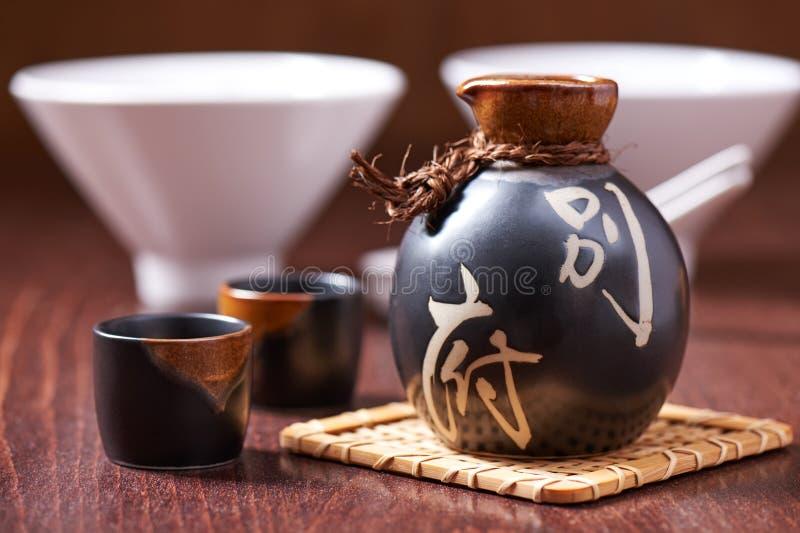 Ensemble japonais de saké image stock
