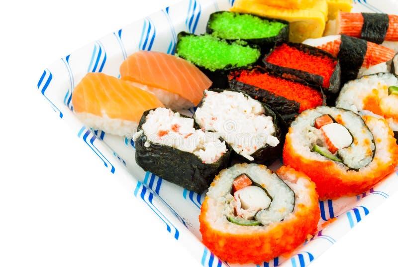 Ensemble japonais de sushi de cuisine image stock