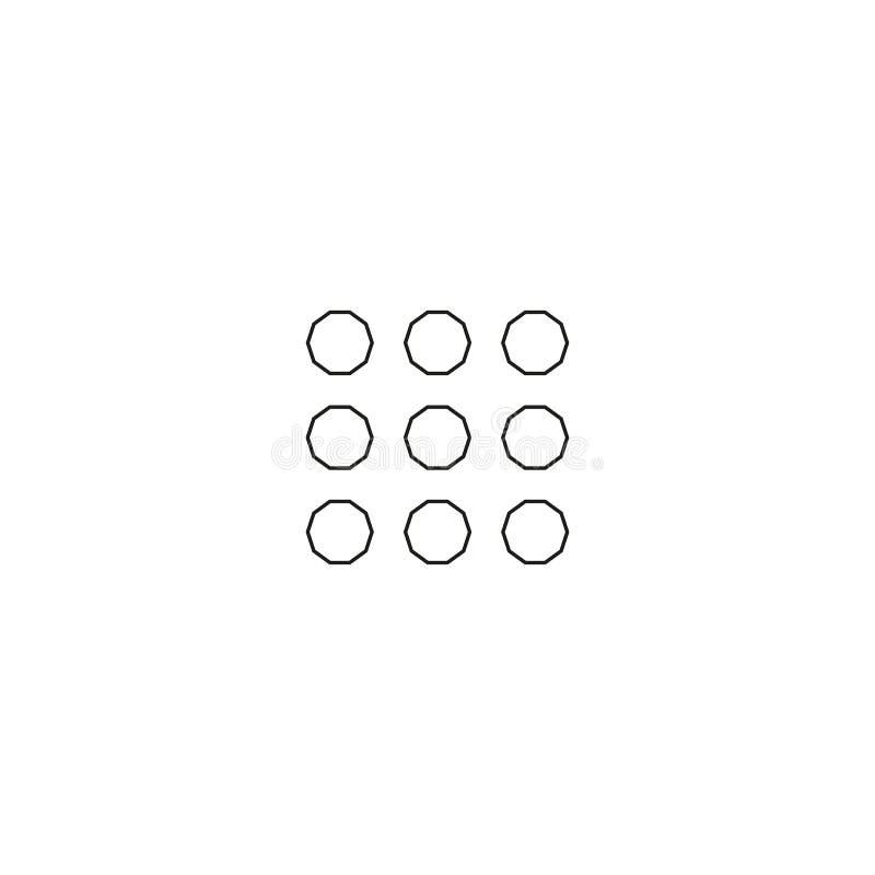 Ensemble linéaire d'icône de dispositifs illustration stock