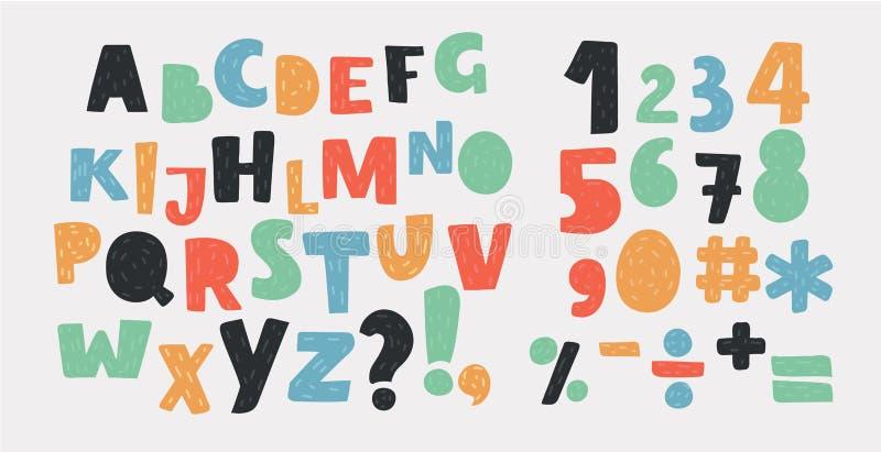 Ensemble lumineux d'alphabet illustration stock