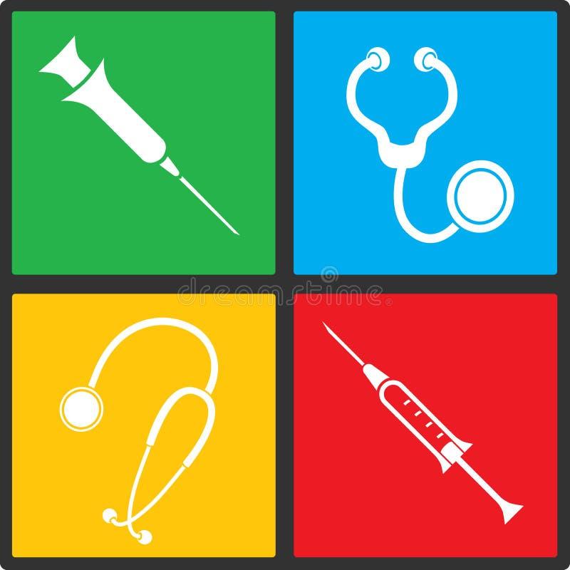 Ensemble médical d'icône de vecteur illustration libre de droits