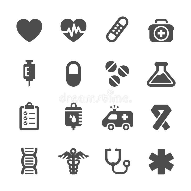 Ensemble médical d'icône, vecteur eps10 illustration stock