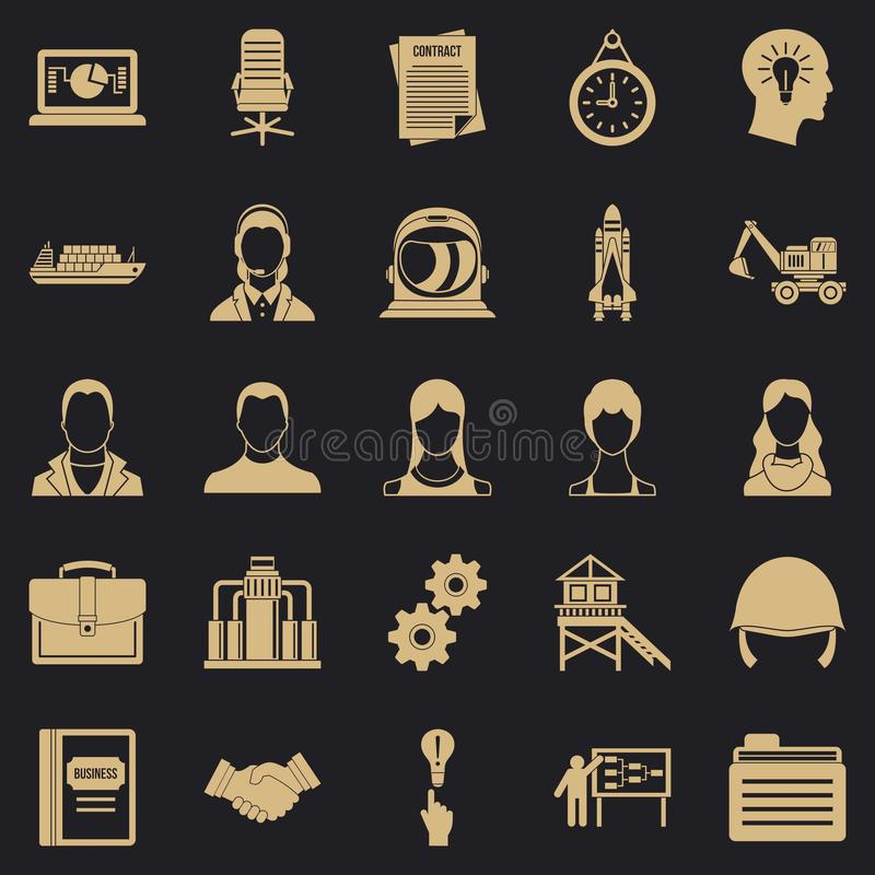 Ensemble massif d'icônes de cas, style simple illustration libre de droits