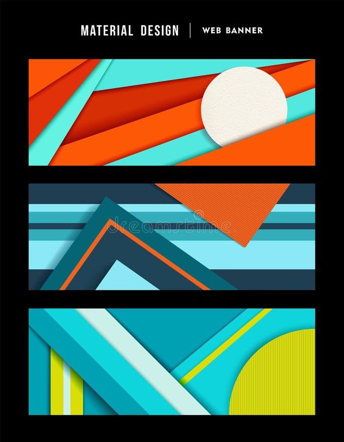 Ensemble matériel de bannière de Web d'abrégé sur conception illustration stock