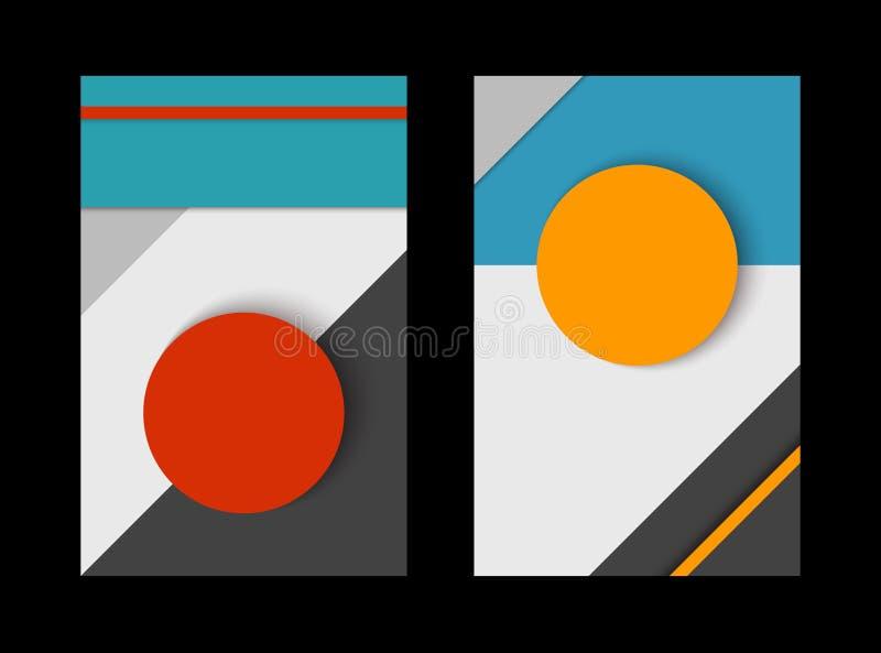 Ensemble matériel de conception de formes de papier abstraites illustration stock