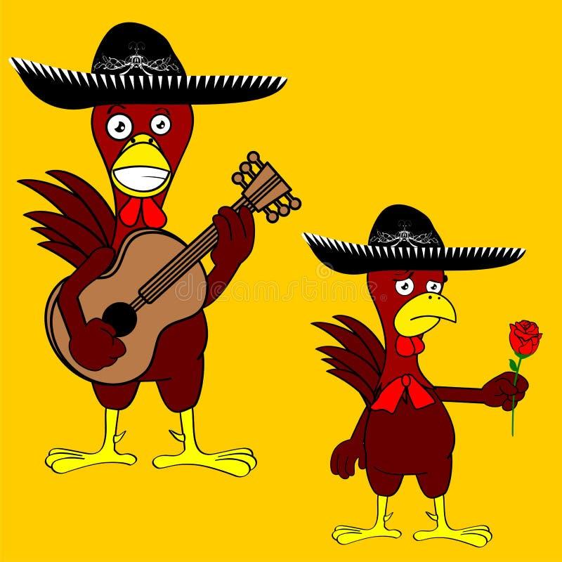 Download Ensemble Mexicain De Mariachi De Poulet Illustration de Vecteur - Illustration du chapeau, rose: 45359914