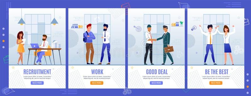 Ensemble mobile de pages d'affaires et de développement personnel illustration libre de droits