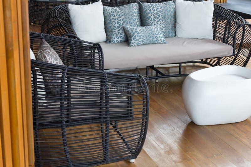 Ensemble moderne de sofa de meubles image stock