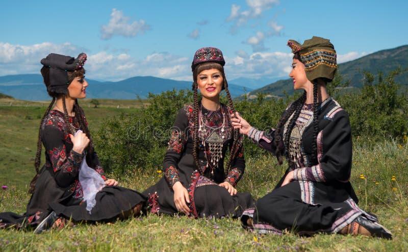 Ensemble national de chanson et de danse de Georgia Erisioni photo libre de droits