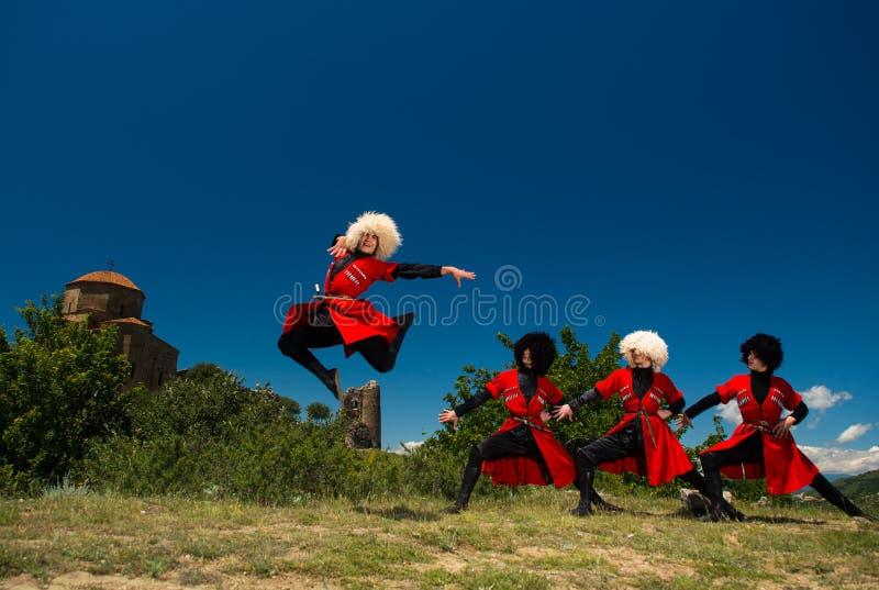 Ensemble national de chanson et de danse de Georgia Erisioni photos libres de droits
