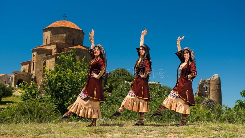 Ensemble national de chanson et de danse de Georgia Erisioni images stock