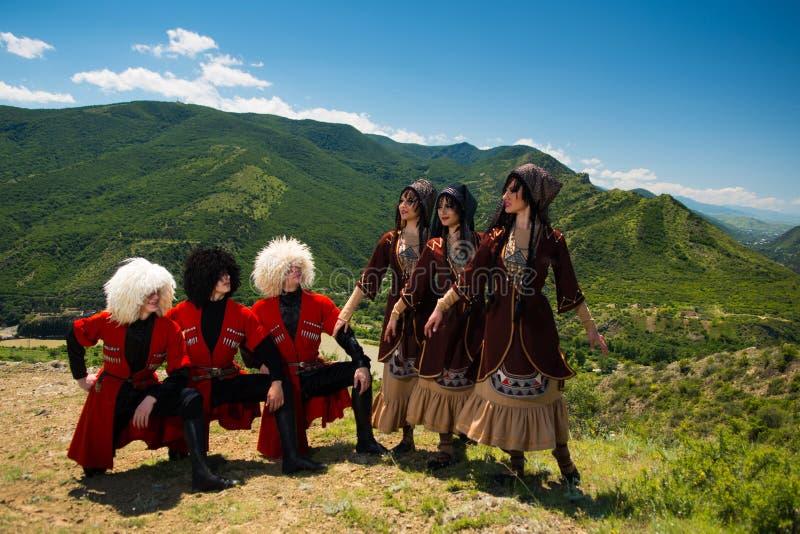 Ensemble national de chanson et de danse de Georgia Erisioni photographie stock libre de droits
