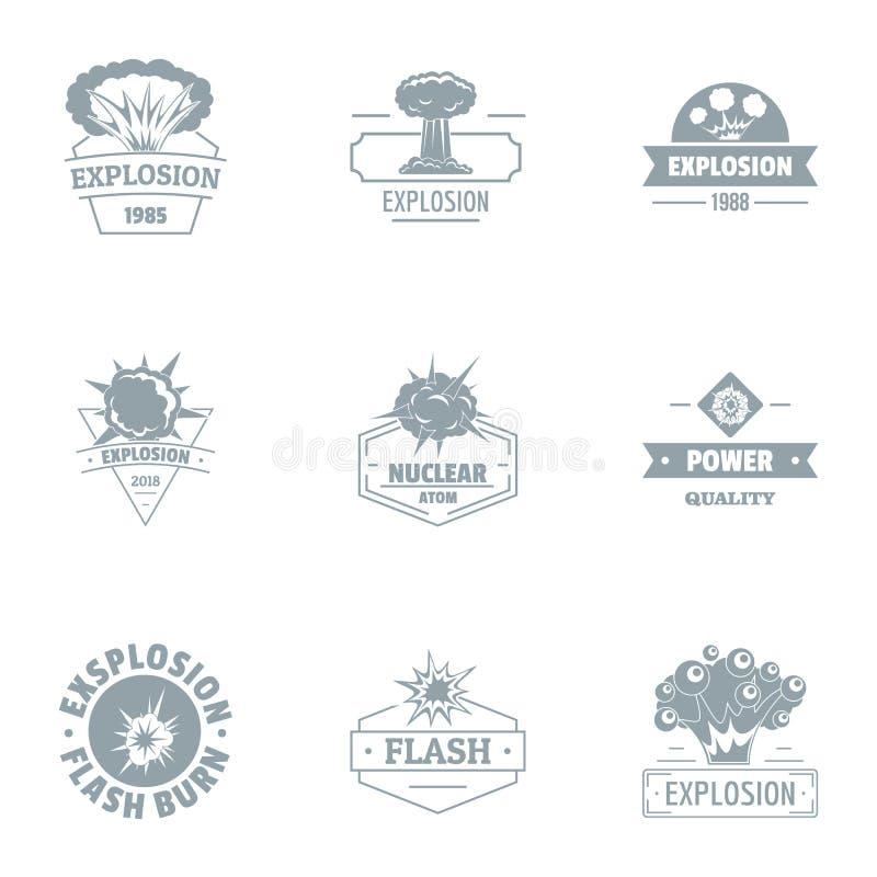 Ensemble nucléaire de logo du monde, style simple illustration de vecteur