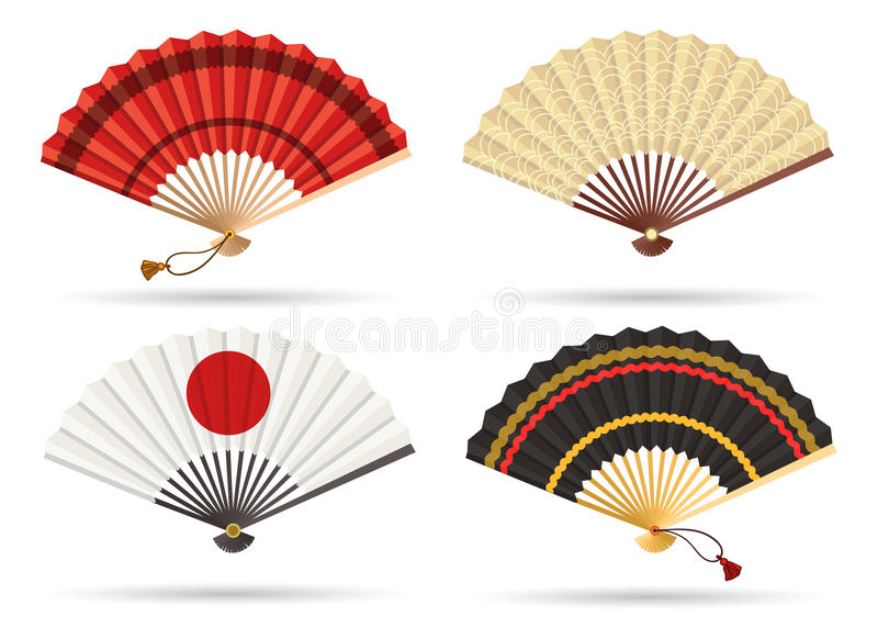 Ensemble oriental de fan du Japon illustration libre de droits