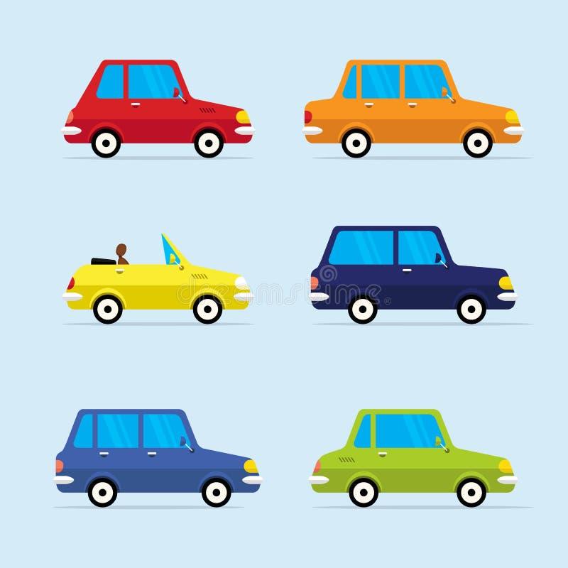 Ensemble plat d'icône de vecteur de véhicules modernes illustration libre de droits