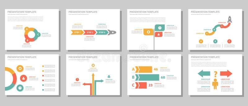 Ensemble plat de conception d'élément infographic universel d'homme d'affaires illustration de vecteur