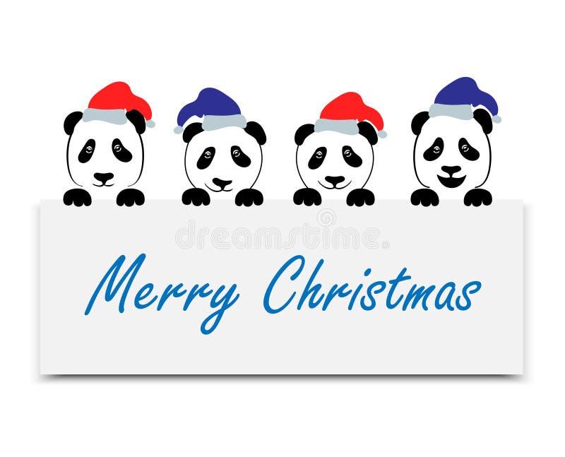 Ensemble positif de panda d'émotions illustration libre de droits